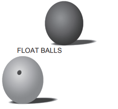 Rubber Float Balls & Plastic Float Balls