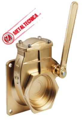 Brass Lever Valve Flange X FE-NPT